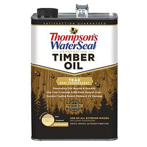 Thompsons Waterseal Penetrating Timber Oil Teak Semi-Transparent 1 Gallon