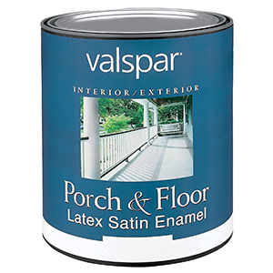 Valspar Interior-Exterior Porch & Floor Latex Satin Enamel 1 Quart Clear Base