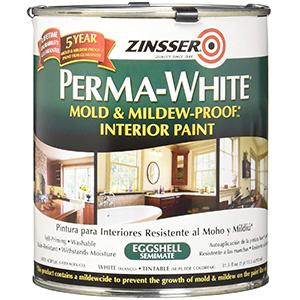 Zinsser Perma-White Bathroom paint White Eggshell